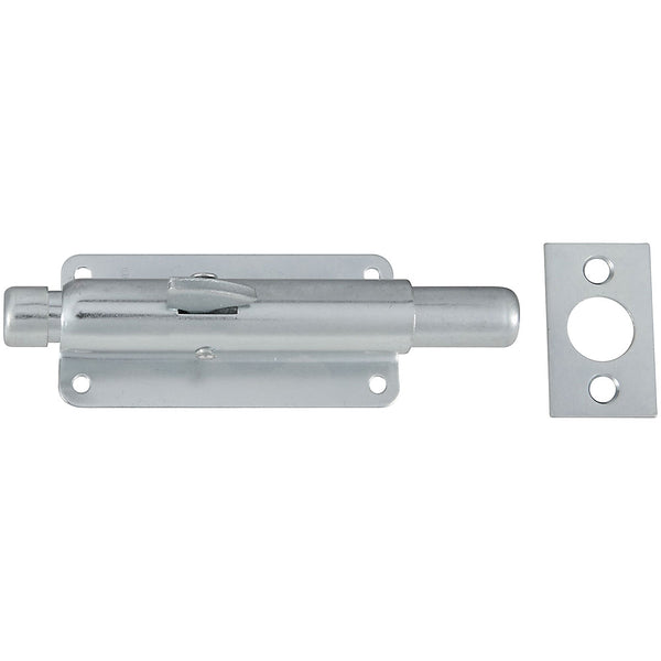 National Hardware N236-338 Steel Foot Bolt, Zinc Plated, 4""