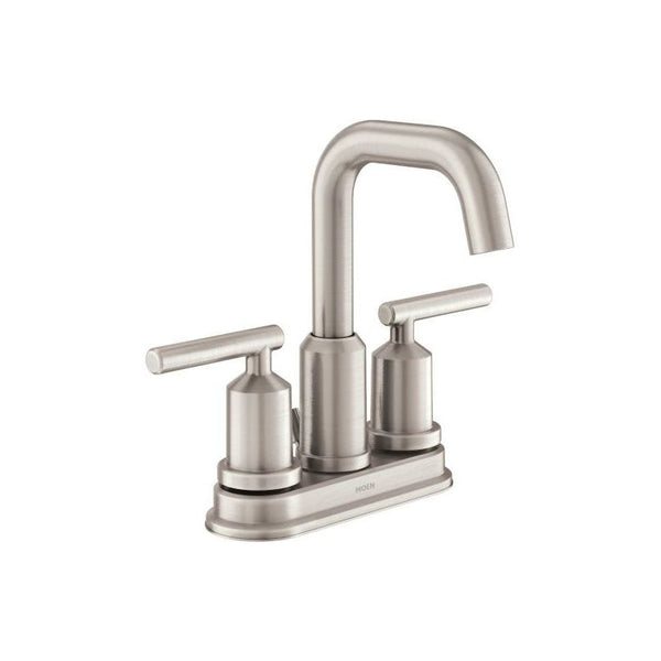 Moen WS84228SRN Gibson Two-Handle High Arc Bathroom Faucet, Brushed Nickel