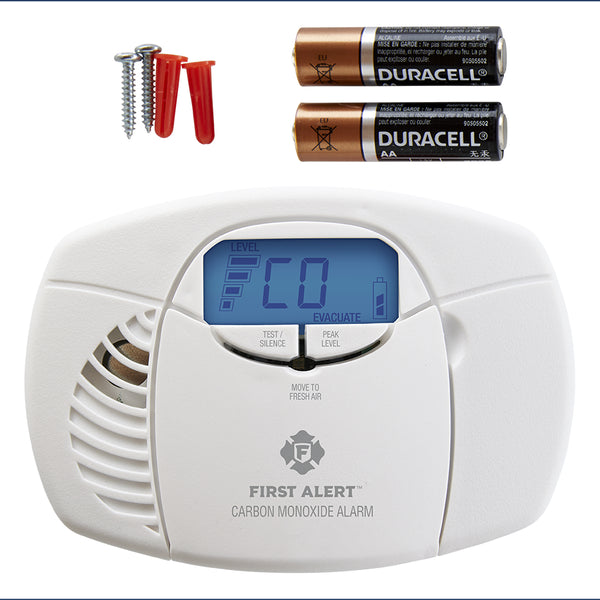 First Alert CO410 Battery-Op Carbon Monoxide Alarm w/ Backlit Digital Display