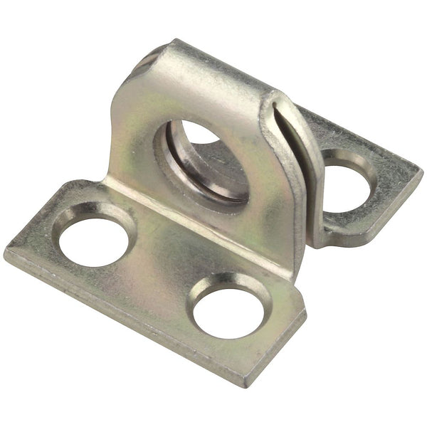 "National Hardware N102-574 Steel Hasp Plate Staple, Zinc Plated, 1"" x 7/8"""