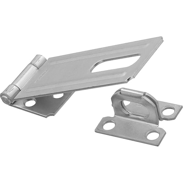 National Hardware N102-376 Steel Safety Hasp, Zinc Plated, 4-1/2""