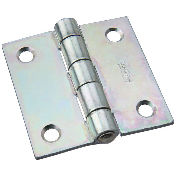 National Hardware N140-392 Non-Removable Pin Hinge, Zinc Plated, 2""