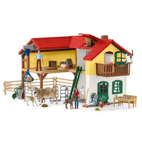 Schleich 42407 Large Farm House Toy Play Set, For Age 3+