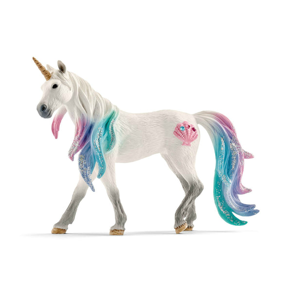 Schleich 70570 Bayala Collection Sea Unicorn Mare Toy Figurine, For Age 3+