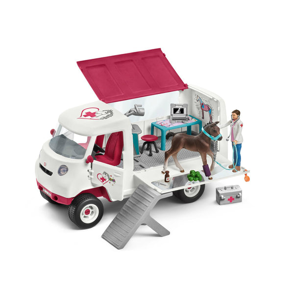 Schleich 42370 Horse Club Mobile Vet with Hanoverian Foal Play Set, For Age 3+