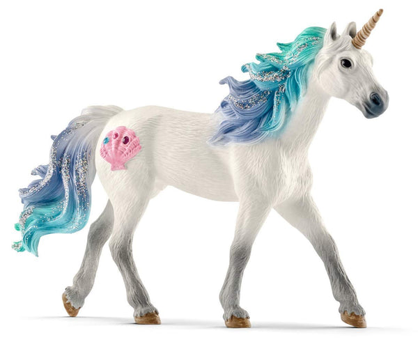 Schleich 70570 Bayala Collection Sea Unicorn Stallion Toy Figurine, For Age 3+