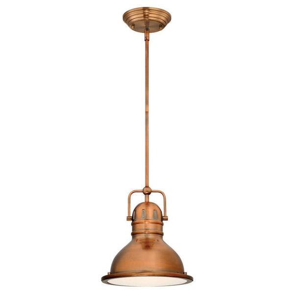 Westinghouse 63084 Boswell One-Light LED Mini Pendant, Washed Copper