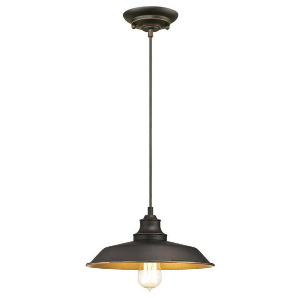Westinghouse 63447 Iron Hill One-Light Indoor Pendant, Oil Rubbed Bronze