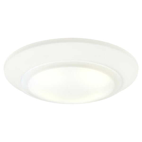 Westinghouse 63229 Dimmable LED Surface Mount Light, White/Frosted Lens, 7-3/8""