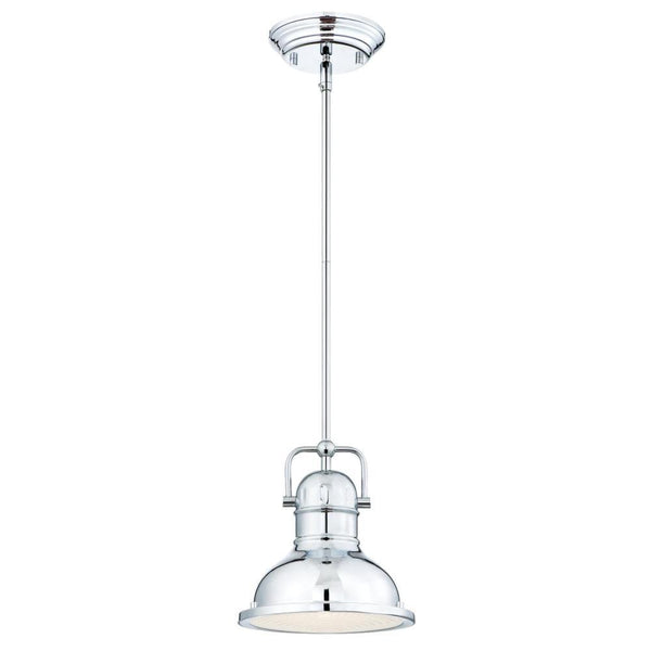 Westinghouse 63085 Boswell 1-Light LED Pendant w/Frosted Prismatic Lens, Chrome