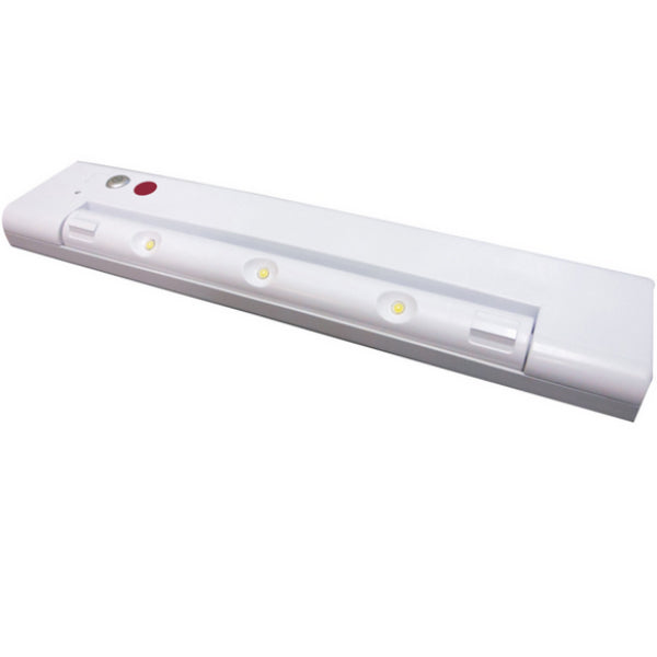 Westek LPL641MW Motion-Activated Wireless Rotating LED Light Bar, White, 150 Lum