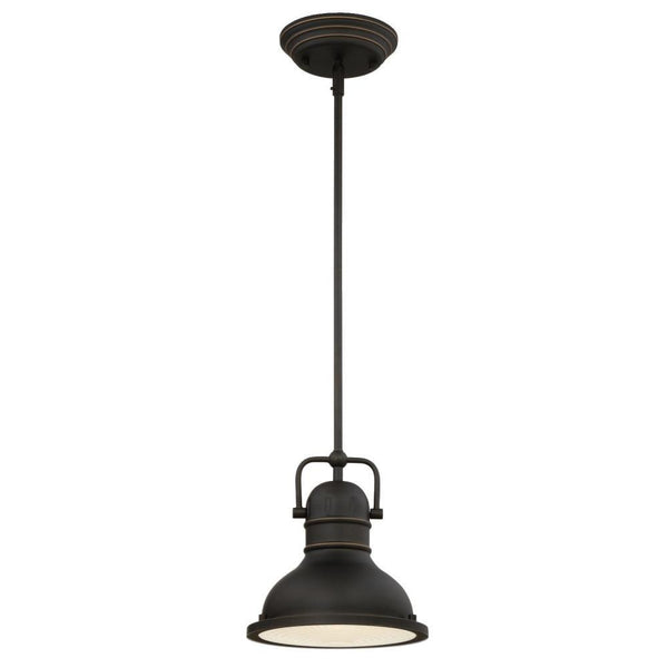 Westinghouse 63082 Boswell One-Light LED Mini Pendant, Oil Rubbed Bronze