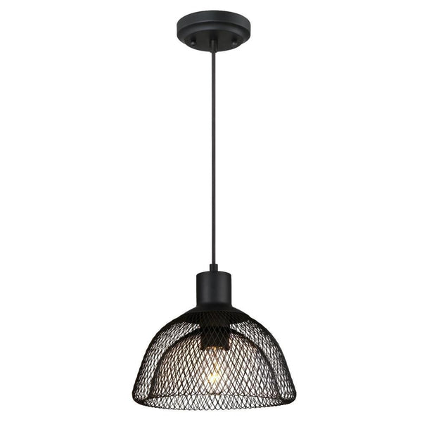 Westinghouse 63451 One-Light Pendant  with Cage Shade, Matte Black