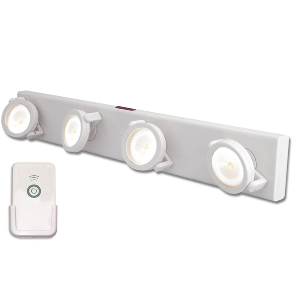 Westek LPL704WRC Under Cabinet LED Track Light with IR Remote, White