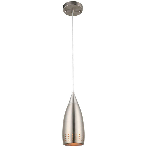 Westinghouse 61013 Adjustable Mini Pendant w/ Perforated Metal Shade, Br. Nickel