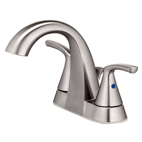 HomePointe 67603W-6204 2-Lever Handle Lavatory Faucet w/Pop-Up, Brushed Nickel