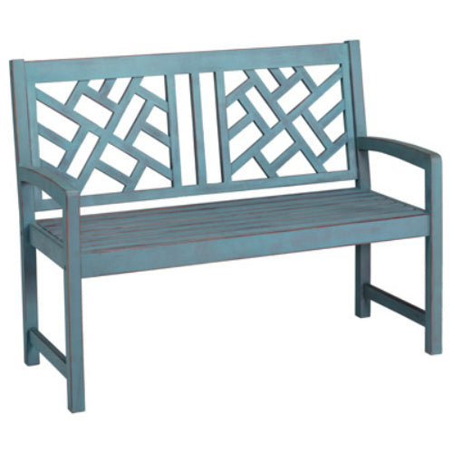 Four Seasons Courtyard JPC-602DBL Portland Hardwood Bench, Blue, 4'