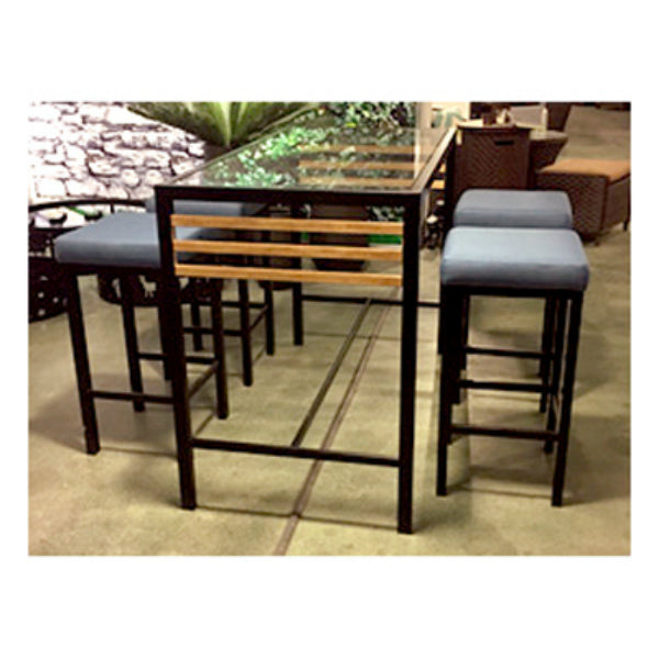 Four Seasons Courtyard 69944 Claremont Barstools wih Seat Cushion, 4-Pack