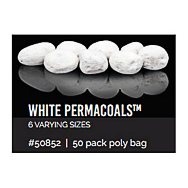 Bond 50852 Varying Sizes Permacoals, White, 50-Piece