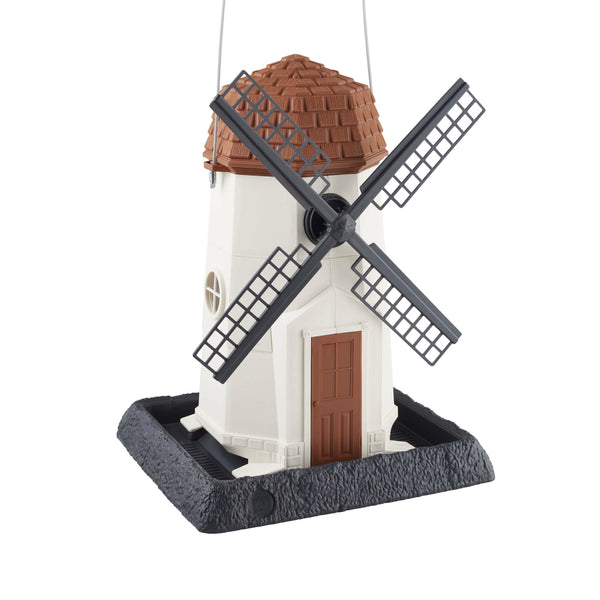 North States 9072 White Windmill Plastic Birdfeeder, Holds Up To 8 lbs