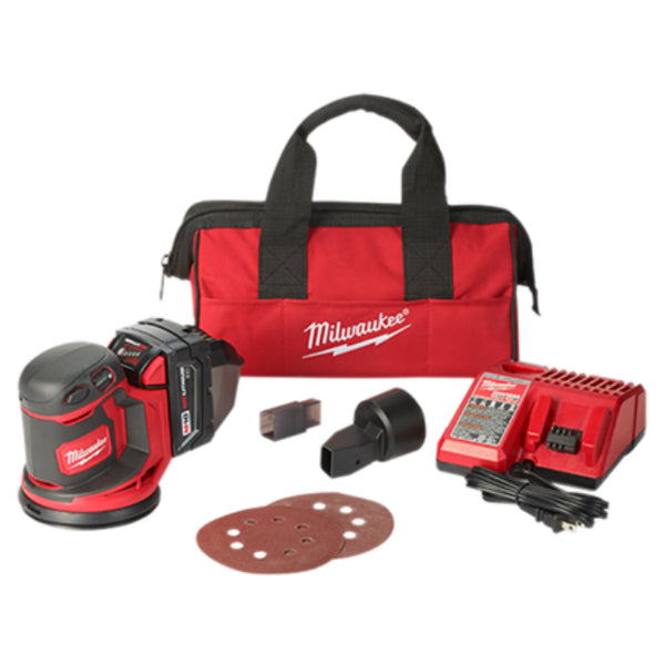 Milwaukee 2648-21 M18 Random Orbit Sander Kit, 18V