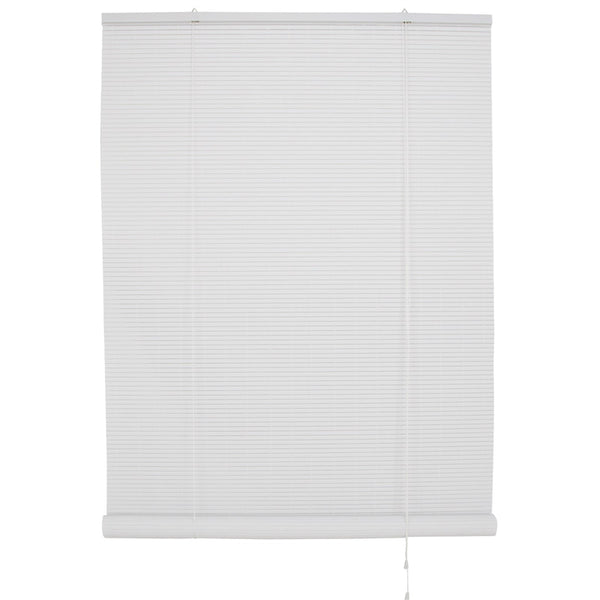 "Simple Spaces VRB-96X72W Vinyl Roll Up Blind, White, 96"" x 72"""