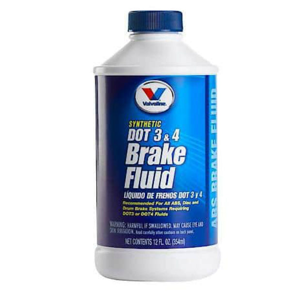 Valvoline 601457 Synthetic Dot 3 & 4 Brake Fluid, 12 Oz