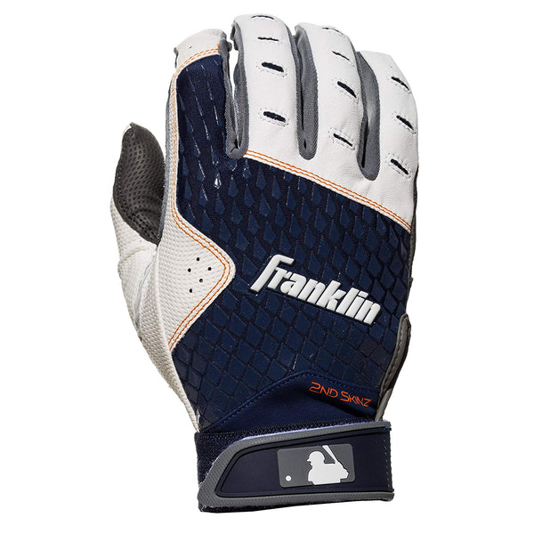 Franklin 21163F4 2nd-Skinz Batting Glove, Gray / Navy, Large