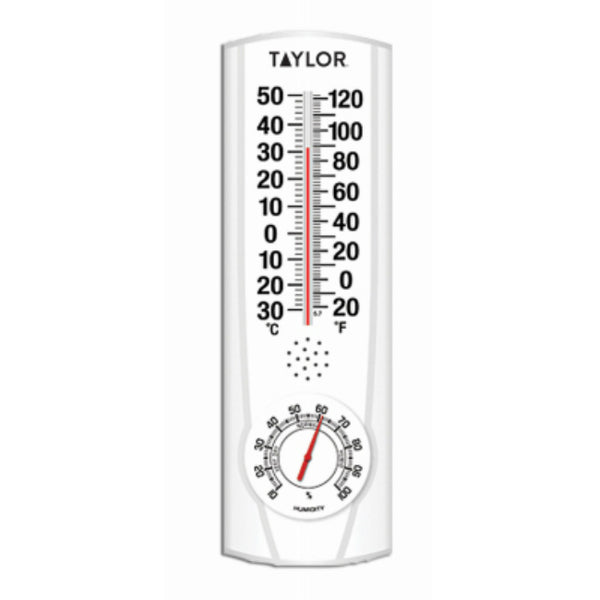 Taylor 5537 Indoor/Outdoor Thermometer with Hygrometer, 9.125""