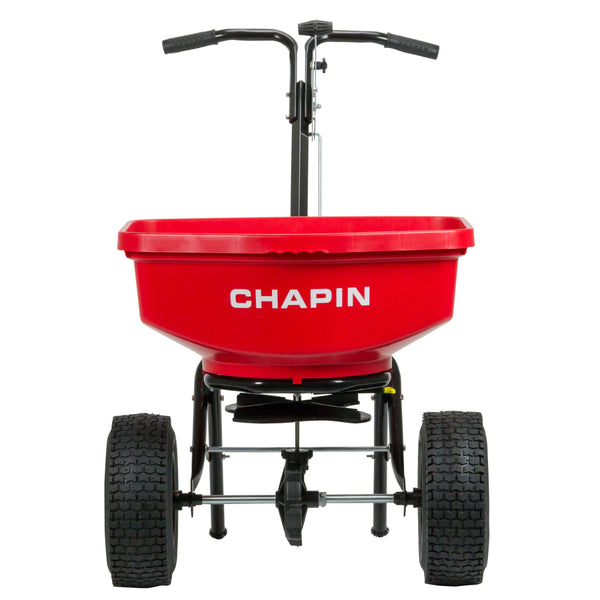 Chapin 8301C Contractor Turf Spreader with Rain Cover & Hopper Grate, 80-Pound
