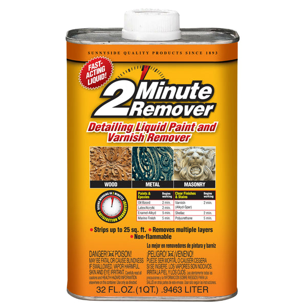 2-Minute Remover 64032 Detailing Liquid Paint & Varnish Remover, 1 Qt