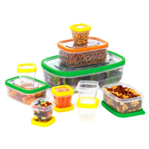 Good Cook 10772 Flex Trim Plastic Container Set, 20-Piece