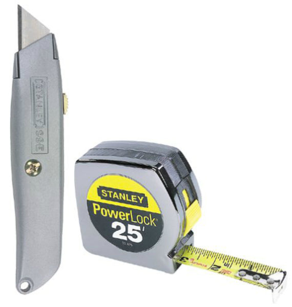 Stanley 90-082 Utility Knife & 25' Tape Measure