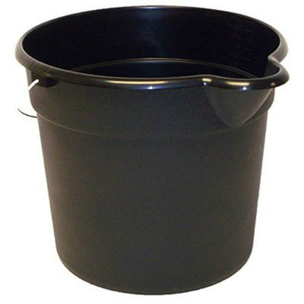 United Solutions PA0012 Black Pail with Spout & Handle, Black, 12-Qt