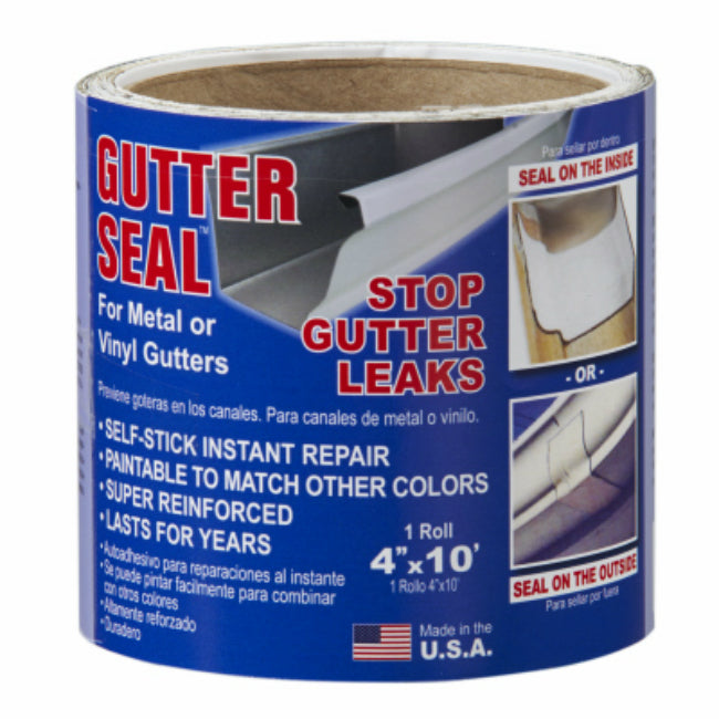 "Gutter Seal GSL410 Stop Leaks Self-Stick Gutter Liner, 4"" x 10' Roll"