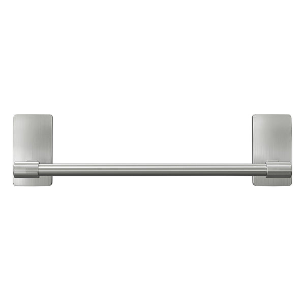Command BATH41-SN-ES Bath Satin Nickel Hand Towel Bar, 9""