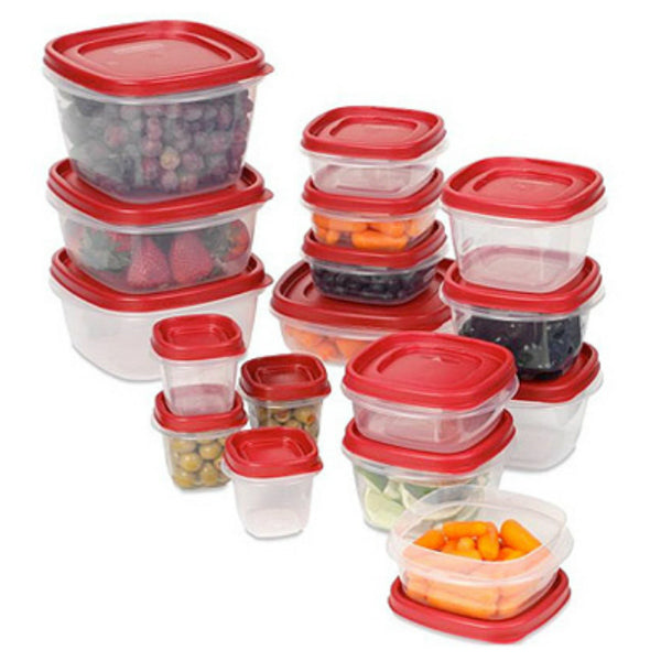 Rubbermaid 2058419 Easy Find Lid Set, 34-Piece