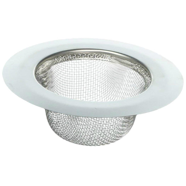 Whedon DP22C Stainless Steel Mesh Kitchen Strainer with Wide Chrome Rim