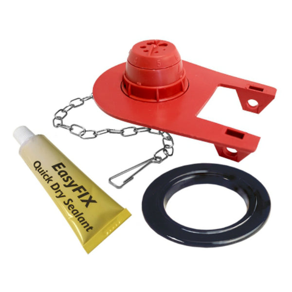 Korky 2003MP Universal Flush Valve Repair Kit with Adjustable Flapper, 2""