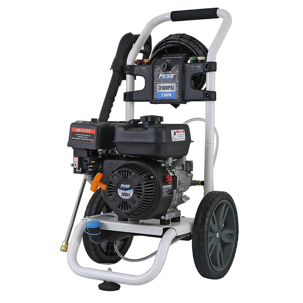 Pulsar PWG3100VE Gas-Powered Pressure Washer 3100 PSI Nozzle, 2.5 GPM