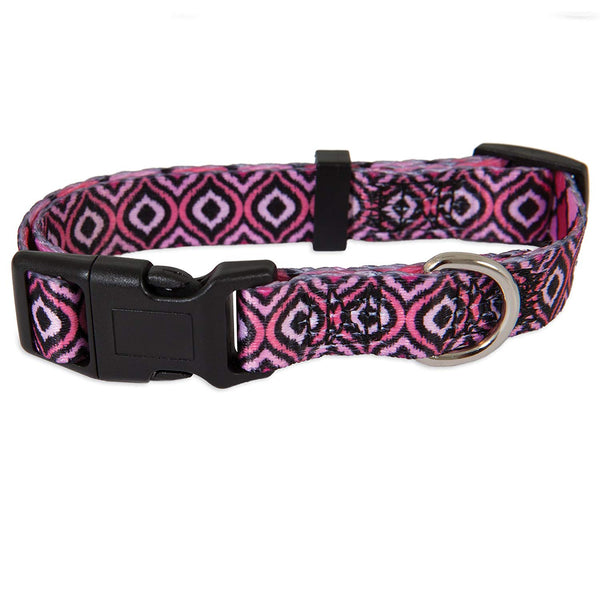 "Petmate 12616 Geo Pattern Dog Collar, Pink, 5/8"" x 10-14"""