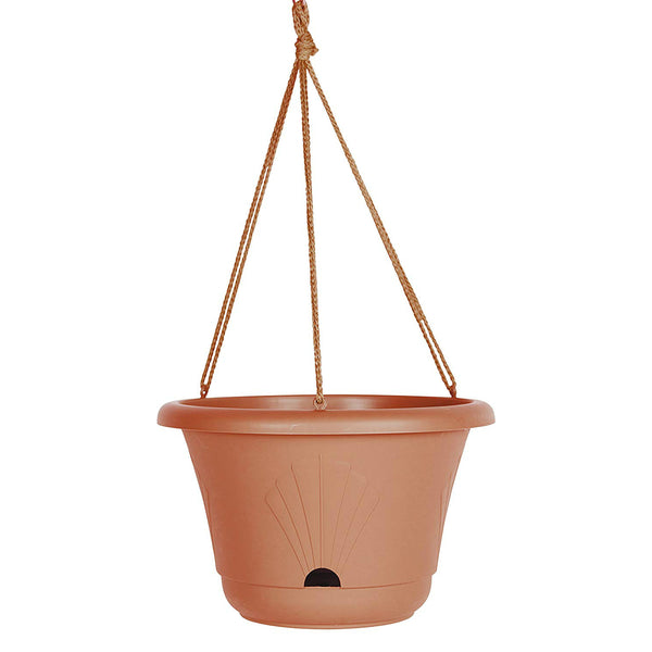 Bloem LHB1346 Lucca Hanging Basket with Self Watering System, Terra Cotta, 13""