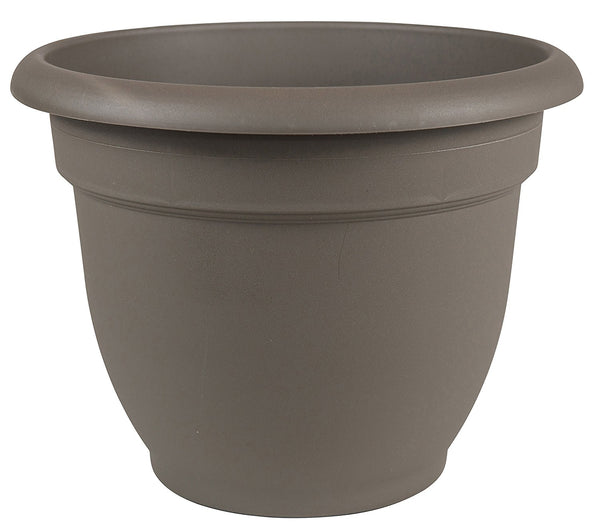 Bloem AP1260 Ariana Plastic Planter with Self Watering Disk, Peppercorn, 12""