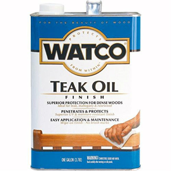 Watco 242225 Teak Oil One-Step Finish for Dense Woods, 1-Gallon