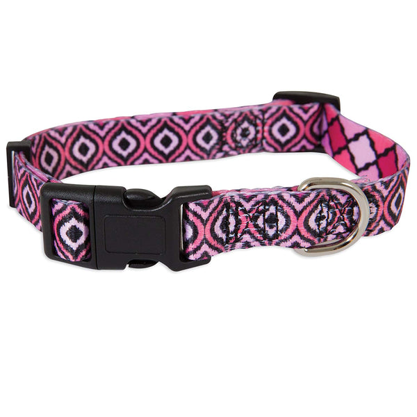 "Petmate 12594 Geo Adjustable Pink Collar, Medium, 3/4"" x 14-20"""