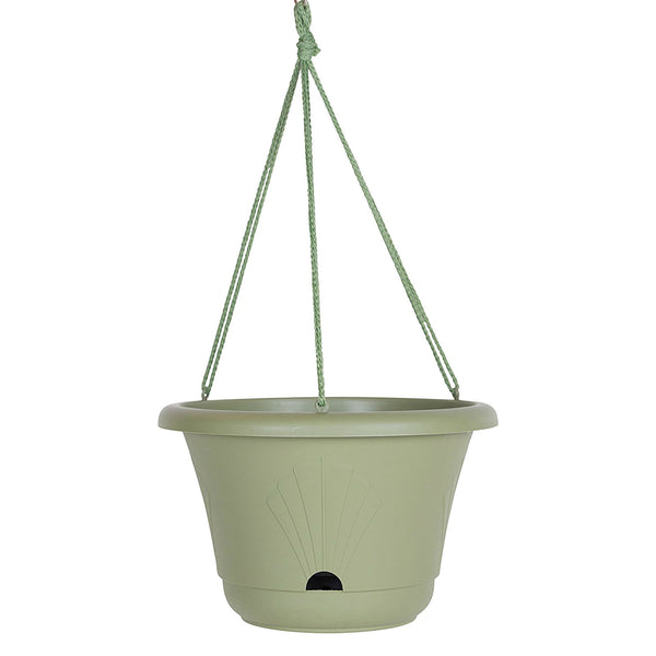 Bloem LHB1342 Lucca Hanging Basket with Self Watering System, Living Green, 13""
