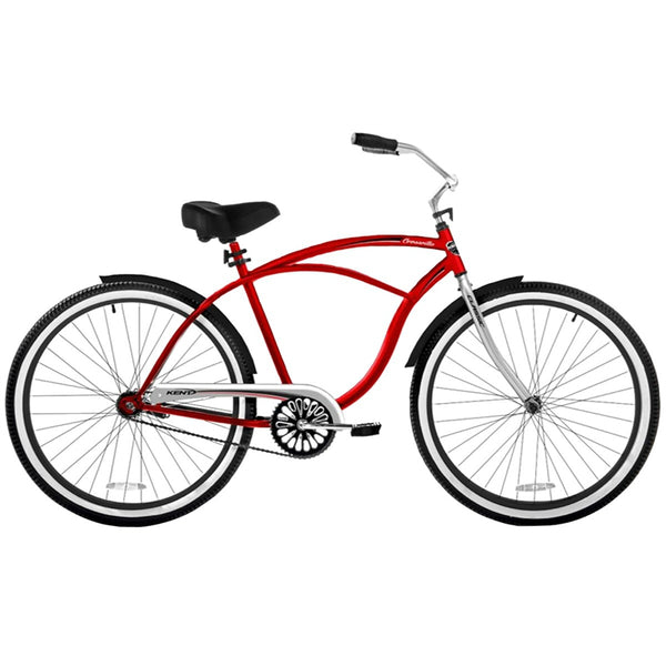 Kent 82660 Men's Cruiser Bicycle with Steel Frame, Red, 26""