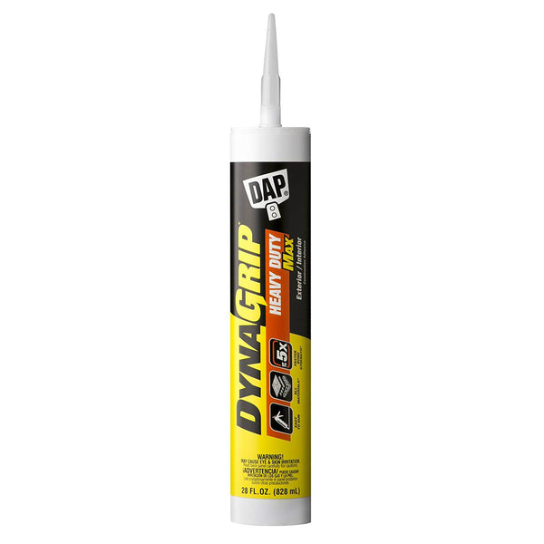 DAP 27512 DynaGrip Heavy Duty Max Construction Adhesive, White, 28 Oz