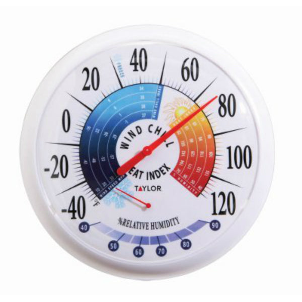 Taylor 6751 Thermometer with Hygrometer/Wind Chill/Heat Index Indication, 13.25""