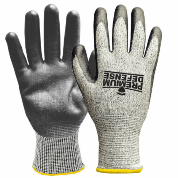 Premium Defense 7007-26 Men's Cut Resistant Glove, Gray, Medium
